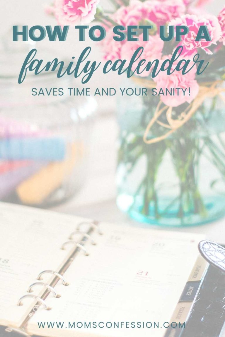 How to Set Up a Family Calendar and Change Your Life!