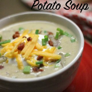 This easy loaded baked potato soup recipe is the best on the internet. The thick and creamy base using heavy whipping cream makes this potato soup recipe one that has everyone coming back for more! Give it a try!