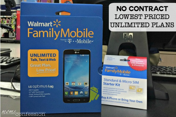 No contract, lowest priced unlimited plans with Walmart Family Mobile