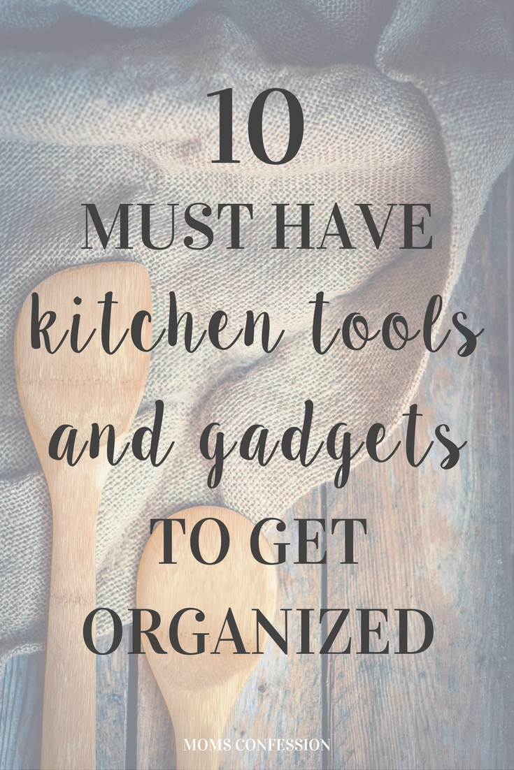 No kitchen organization project should go without these items tools and gadgets to organize your kitchen, including the free printable spice labels!