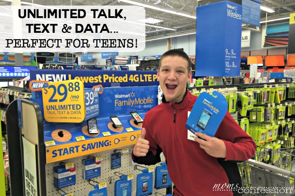 Unlimited Talk, Text, & Data....perfect for teens!