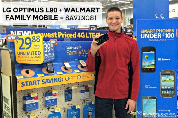 LG Optimus L90 + Walmart Family Mobile = Savings!