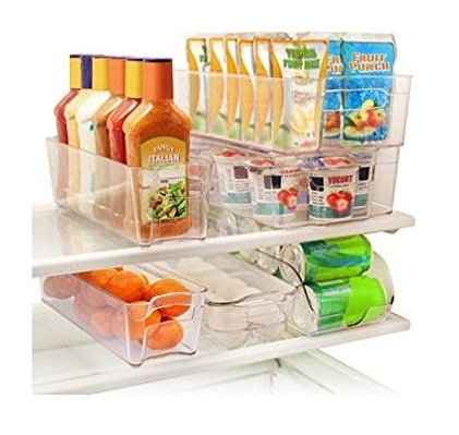 fridge organization bins