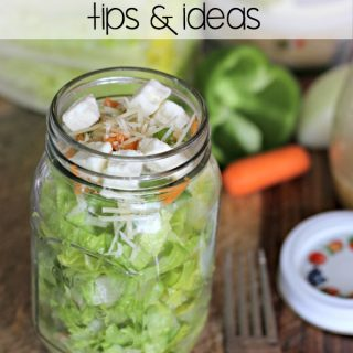 Jazz up your brown bag routine with these Mason Jar Salad Tips and Recipe ideas. With these mason jar salad ideas you can enjoy lunch and eat healthy too!