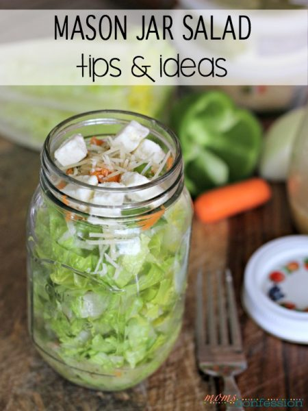 Mason Jar Salad Ideas and Recipe Ideas for Lunches on the Go