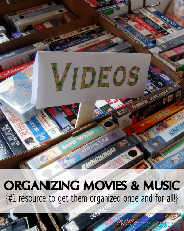Home organization tips like these are ideal for keeping your movies and music sorted and easy to manage!  Use these tips for your entertainment center!