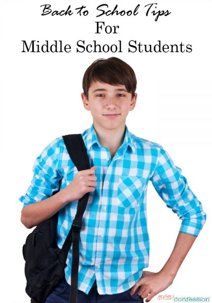 If you have a middle schooler heading back to school this fall, here are some back to school tips for middle school students that will make the year smooth.