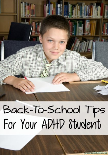 Before you start to get anxiety over the new school year, check out these simple back to school tips for your ADHD student to make this year easier.