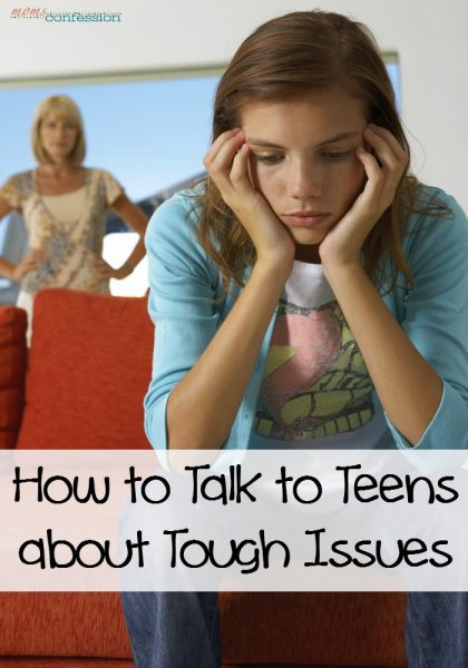 Here are some tips for how to talk to about tough teens issues with you child so you can open the lines of communication again with your teen or pre-teen.