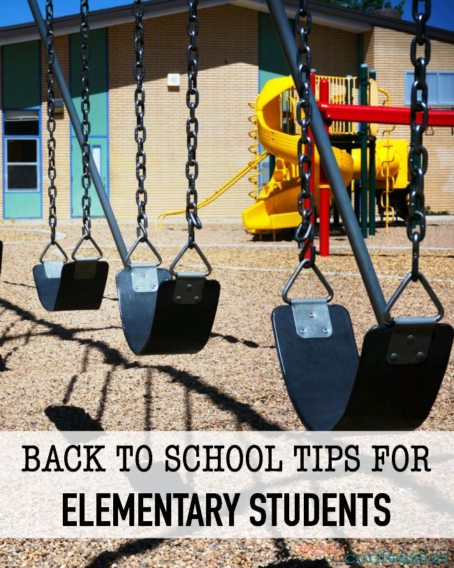 Back to School Tips for Elementary Students