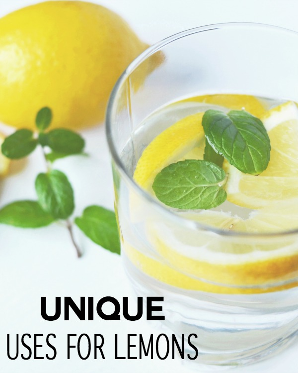 Have you ever wondered what you could use lemons for? If you're like me, I typically get lemons in my water from restaurants, but I've never really thought of different ways to use them around the house. I have recently come across some unique uses for lemons and thought you all would get a kick out of them.