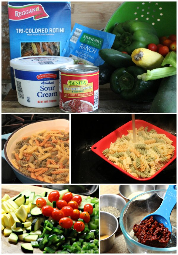 Looking for an easy pasta salad recipe the entire family can enjoy? Look no further and learn how to make this easy chipotle ranch pasta salad.