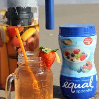 Sweet Strawberry Lemon Green Sun Tea Recipe