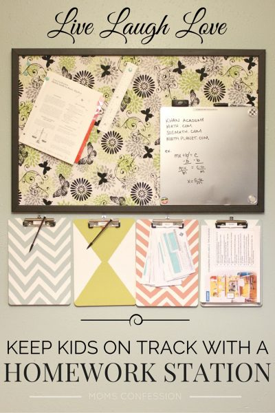Save Your Sanity With a Homework Station