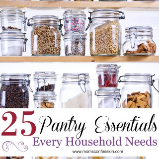 Kitchen Hacks like these 25 Pantry Essentials Every Household Needs are what makes it easy for busy moms to manage weeknight meals!