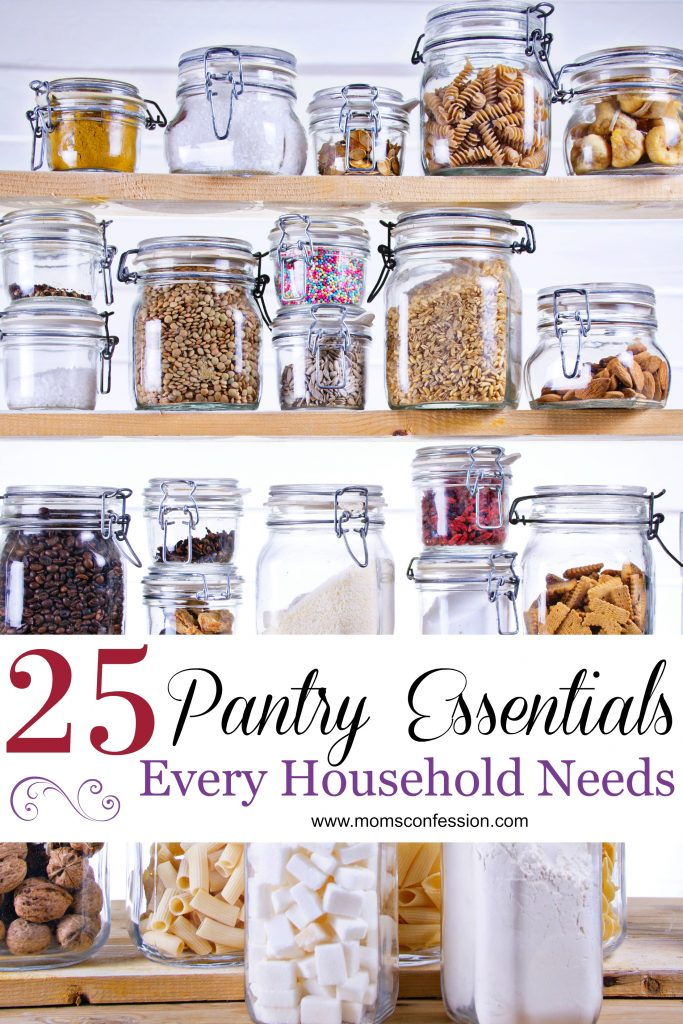 Kitchen hacks like these 25 pantry staples every household needs are what makes it easy for busy moms to manage weeknight meals!