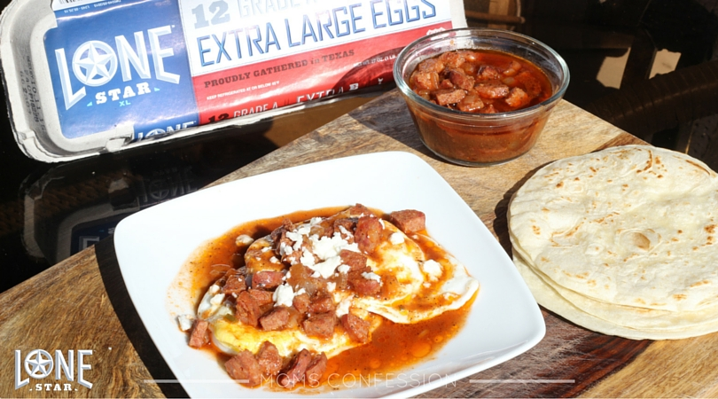 Great tasting Lone Star Eggs make these huevos rancheros amazing!