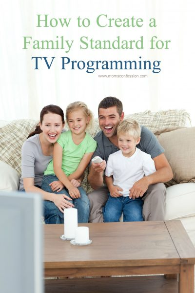 How To Create A Family Standard For TV Programming that gives your kids freedom while remaining safe in viewing TV shows and movies!