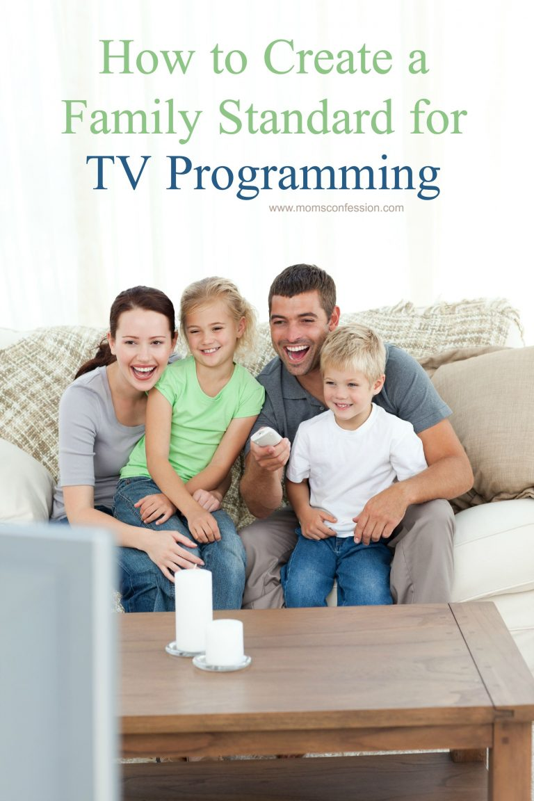 How to Create a Family Standard for TV Programming