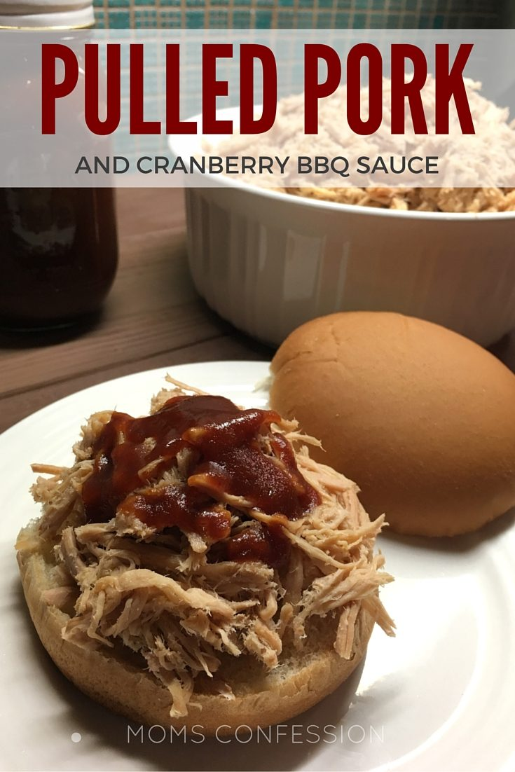 Pulled Pork with Cranberry Barbecue Sauce