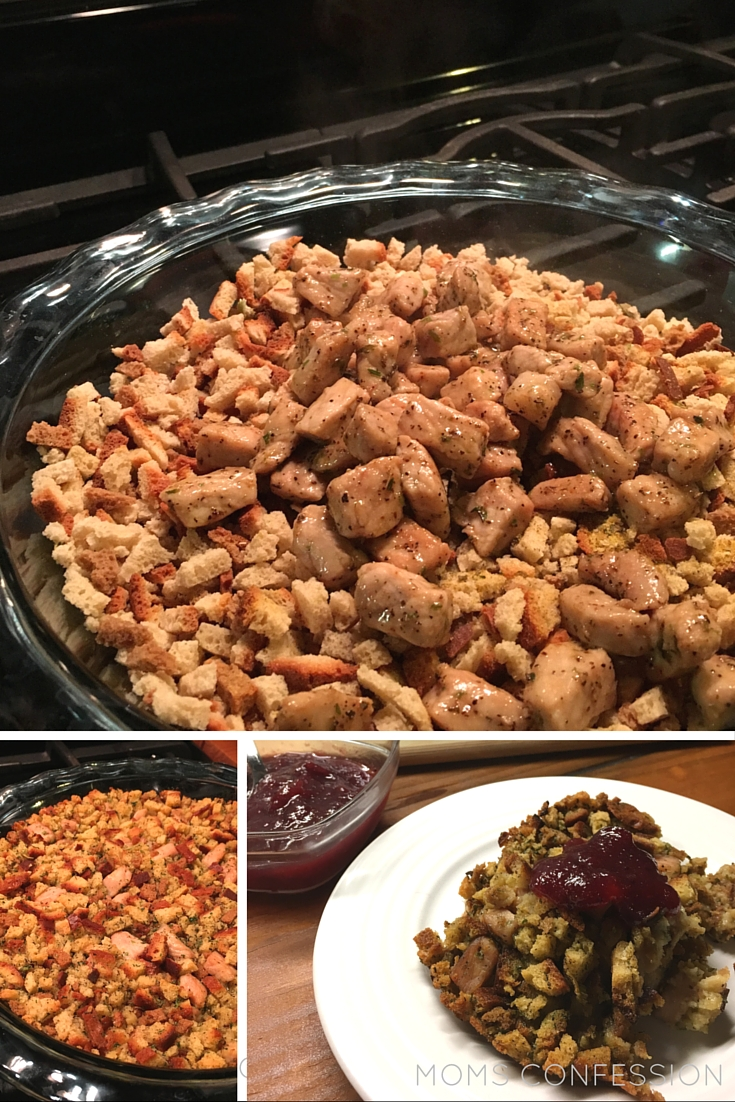 You need this 30 minute pork stuffing recipe in your life. This simple recipe is perfect for the fall season and Thanksgiving gatherings!