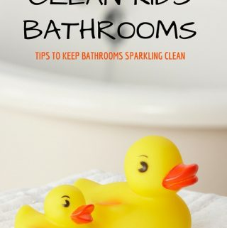 As a mom, you may be dreading the walk into your kids bathroom each day. I know I do! With these 7 Ways To Easily Clean Kids Bathrooms will keep things sparkling even with messy boys and girls.