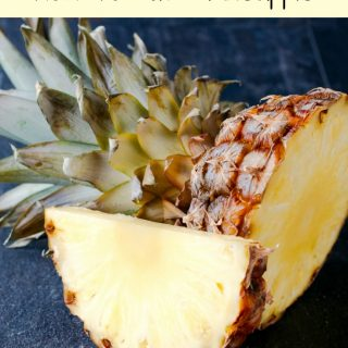 Check out one of our favorite Kitchen Hacks: How To Cut A Pineapple easily! This makes meal prep and snacking so much easier!