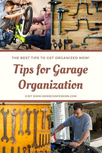 Garage a mess? Need help getting it together? Use these five garage organization tips to help you reach your goal and get it clean and organized today!