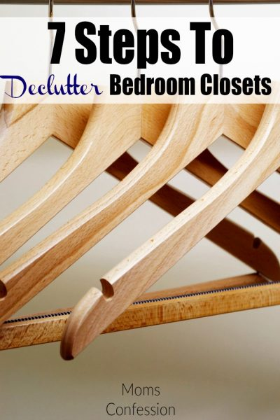 7 Steps To Declutter Bedroom Closets