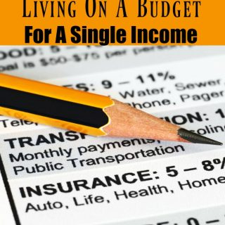7 Tips For Living On A Budget For A Single Income