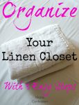 Don't miss our tips for how to Organize Your Linen Closet with our 3 Easy Steps! So easy to get control over your towels, sheets, and more!