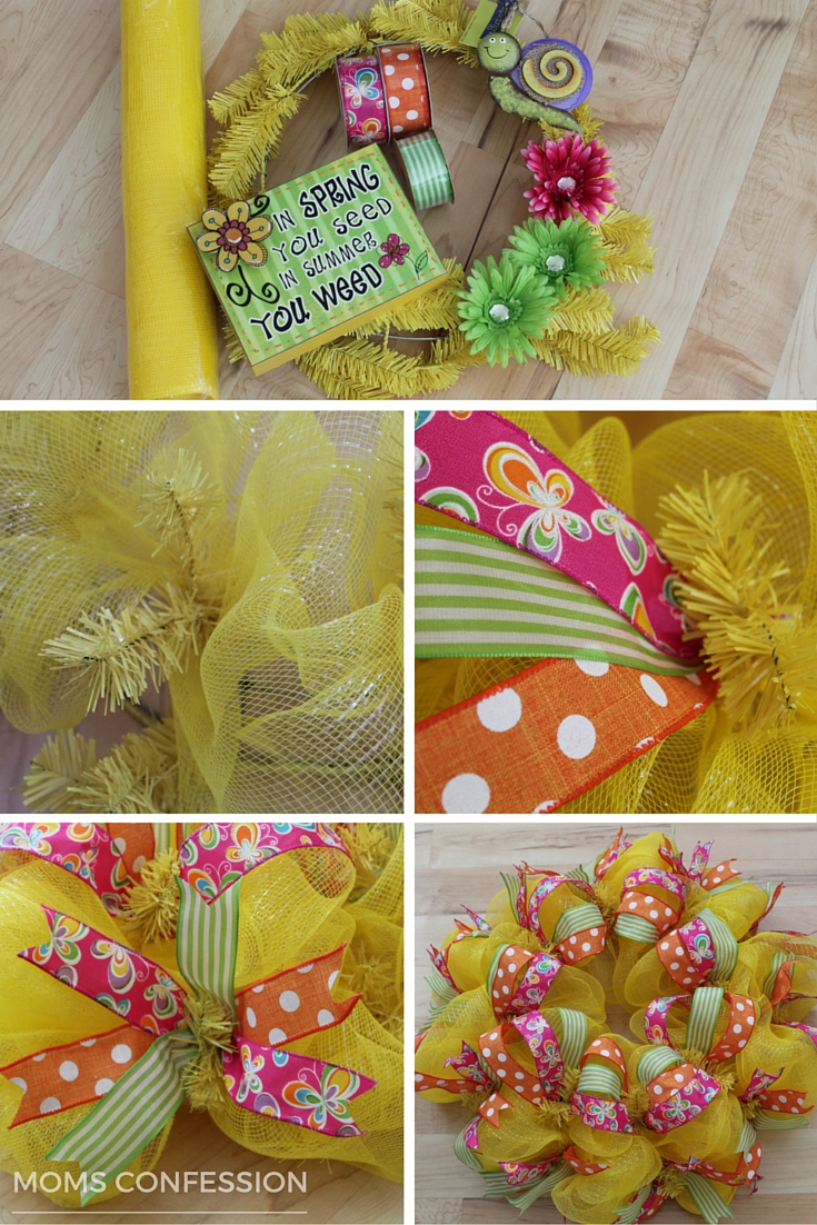 Simple instructions to make a spring inspired wreath to brighten your home this spring season!