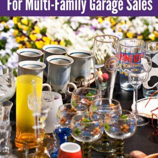 Garage Sale Tips For a Multi-Family Garage Sale