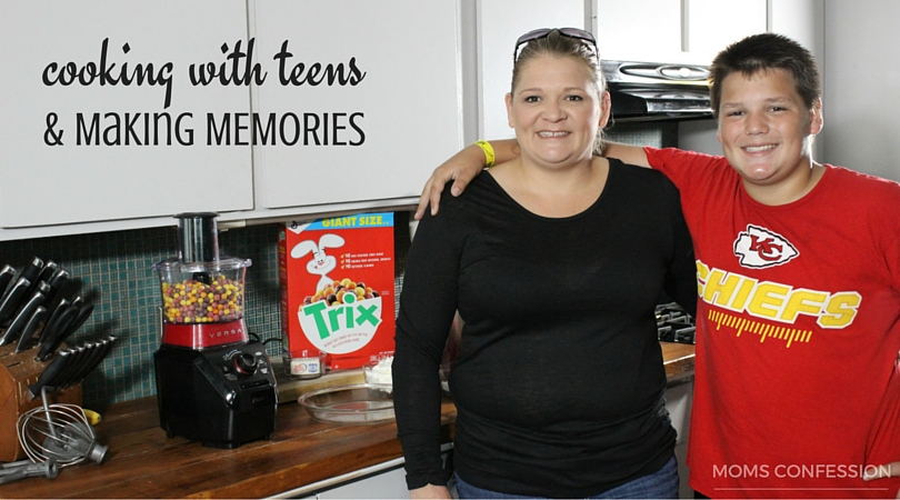 cooking with teens in the kitchen