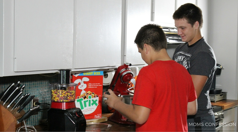 teens in the kitchen