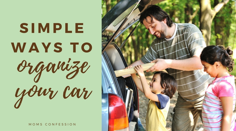 Organize your car with these simple & clever car organization hacks! This will make it easier to manage road trips, and keep your car tidy for everyday use!