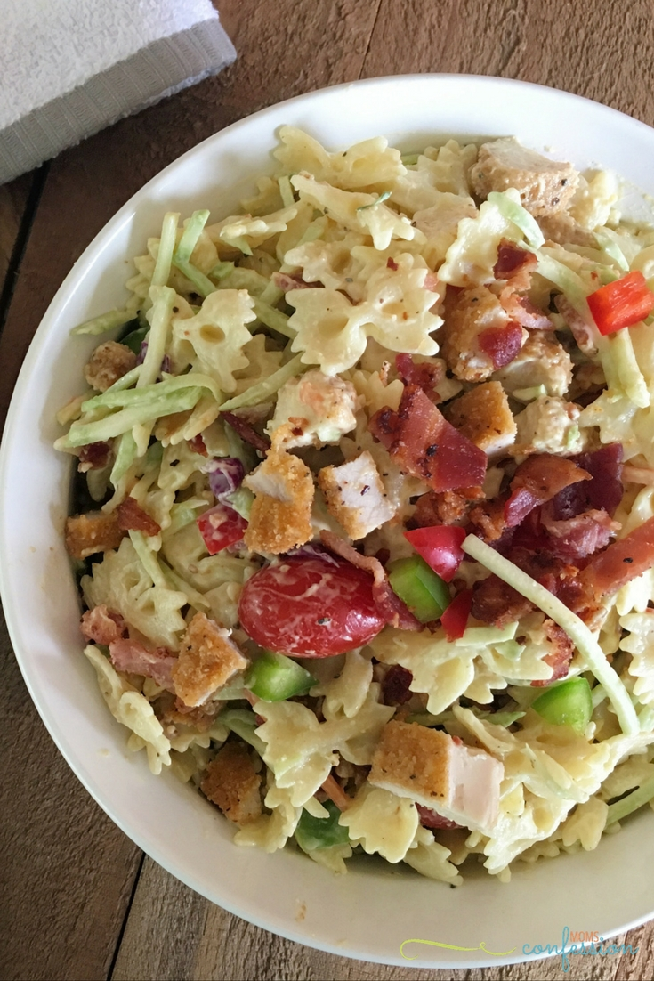 You will love this chicken bacon ranch pasta salad quick and easy recipe. It's the perfect one dish dinner for back to school.