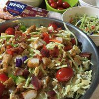 One Dish Dinner Idea - Chicken Bacon Pasta Salad