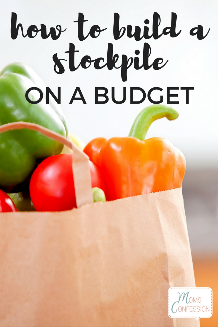 Learn How To Build A Food Stockpile On A Budget! These tips will help you to have food for that rainy day without going outside your budget month to month.
