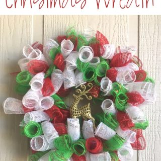 Make our super easy Reindeer Deco Mesh Christmas Wreath this year to hang on your front door. A few supplies and some time are all you need!