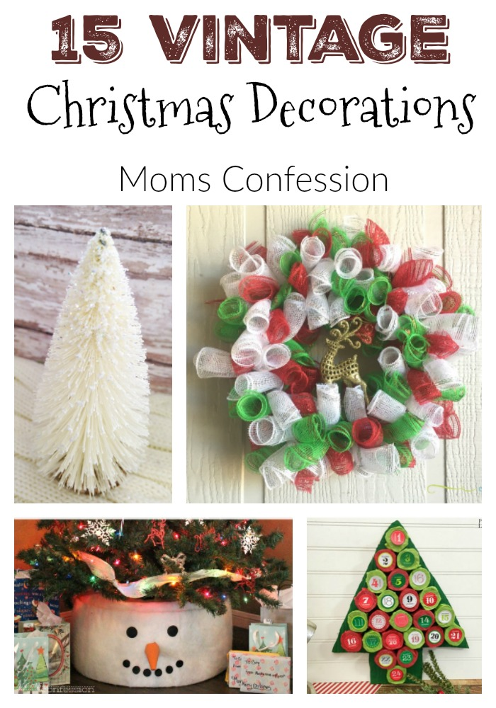 15 vintage christmas decorations ideas - Vintage Christmas Decorations