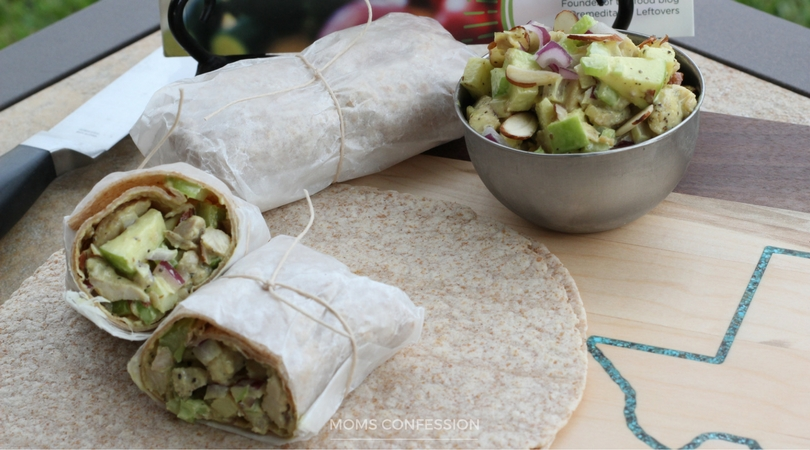 Honey Mustard Chicken Salad Wraps