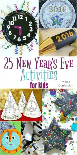 Check out this list of 25 New Year's Eve Activities For Kids that everyone at your party will love to enjoy this year! Tons of fun crafts and party ideas!
