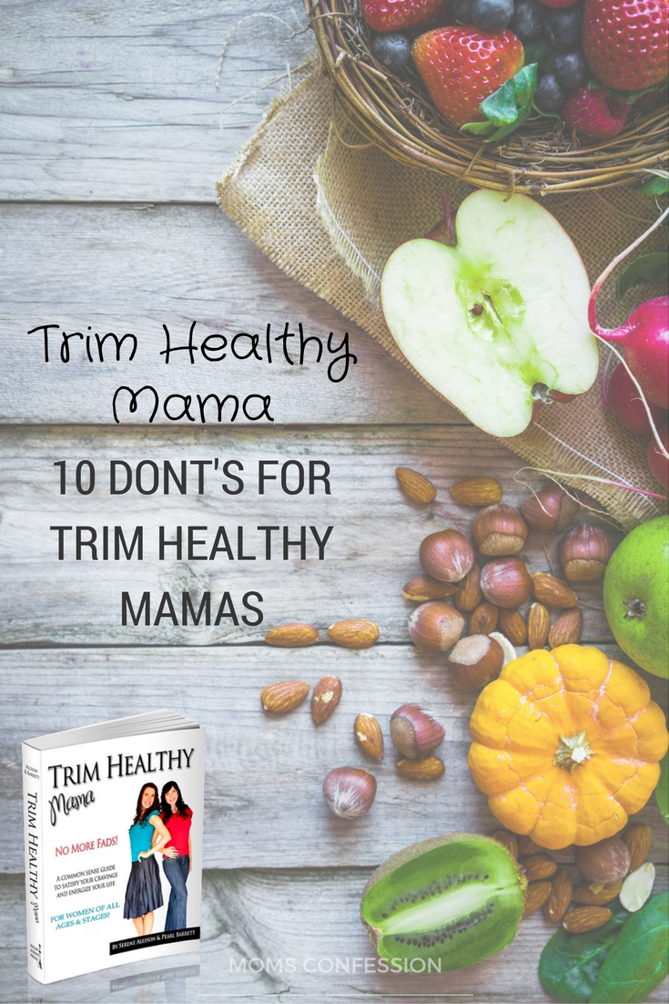 graphic regarding Trim Healthy Mama Printable Food List identified as 10 Slender Balanced Mama Diet plan Dos Donts