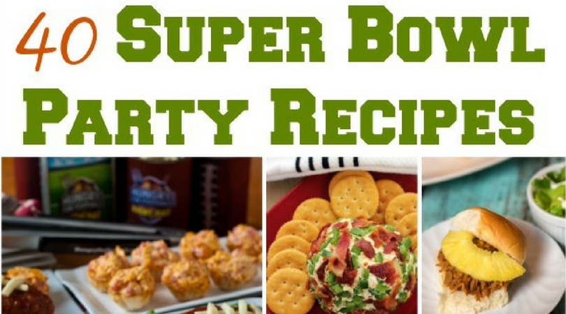 ooking for easy Super Bowl Party Recipes? Get 40+ easy football party recipes that will have your guests mouth watering on Super Bowl Sunday!