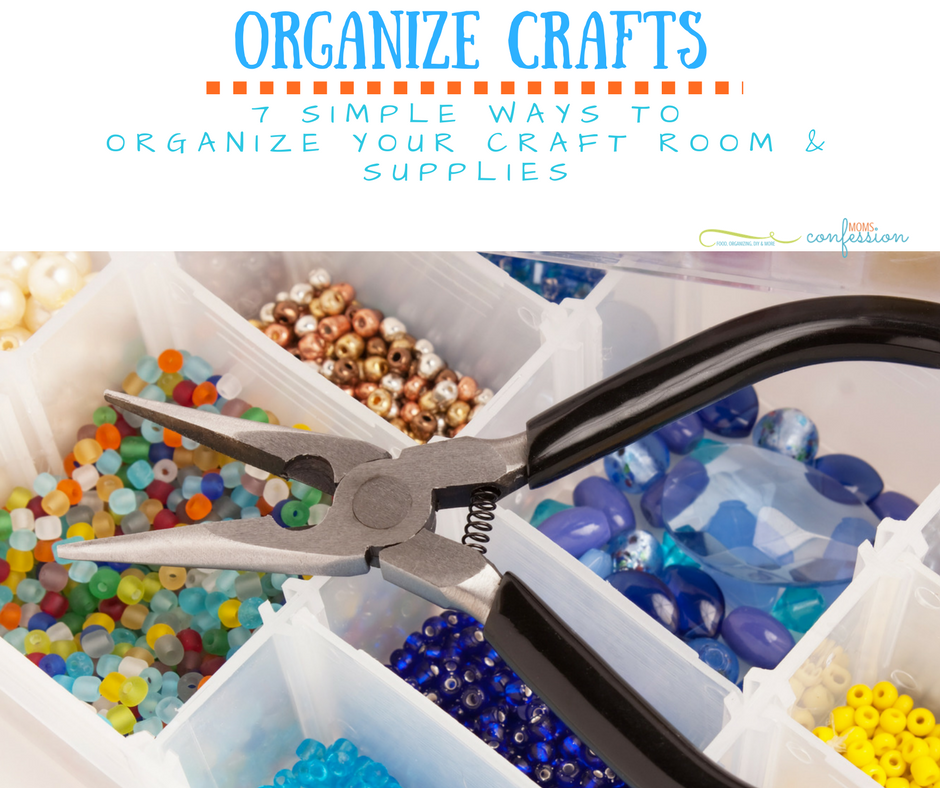 Organize Your Craft Supplies with these 7 Ways that we love! From classic methods to truly genius ideas using household items, you'll be in order fast!