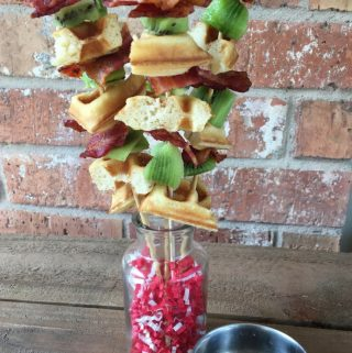 These grilled bacon skewers are a tasty and the perfect breakfast idea for Father's Day. This simple recipe idea for Father's Day is going to be a huge hit!