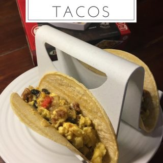 These 5 minute breakfast tacos are easy to make and so tasty. They are perfect for kids and busy moms to enjoy a quick back to school breakfast.