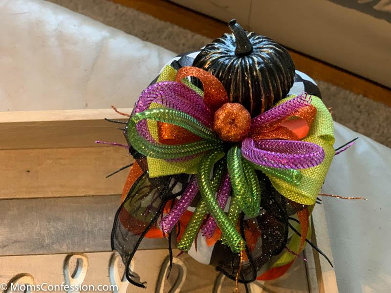 Mackenzie Childs Inspired Halloween Stacked Pumpkins