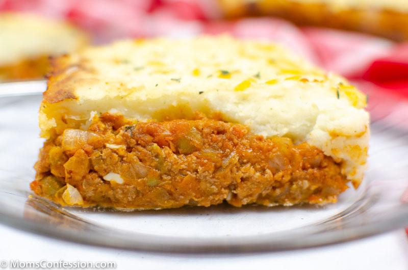 close up horizontal image of Simple Shepherd's Pie Recipe